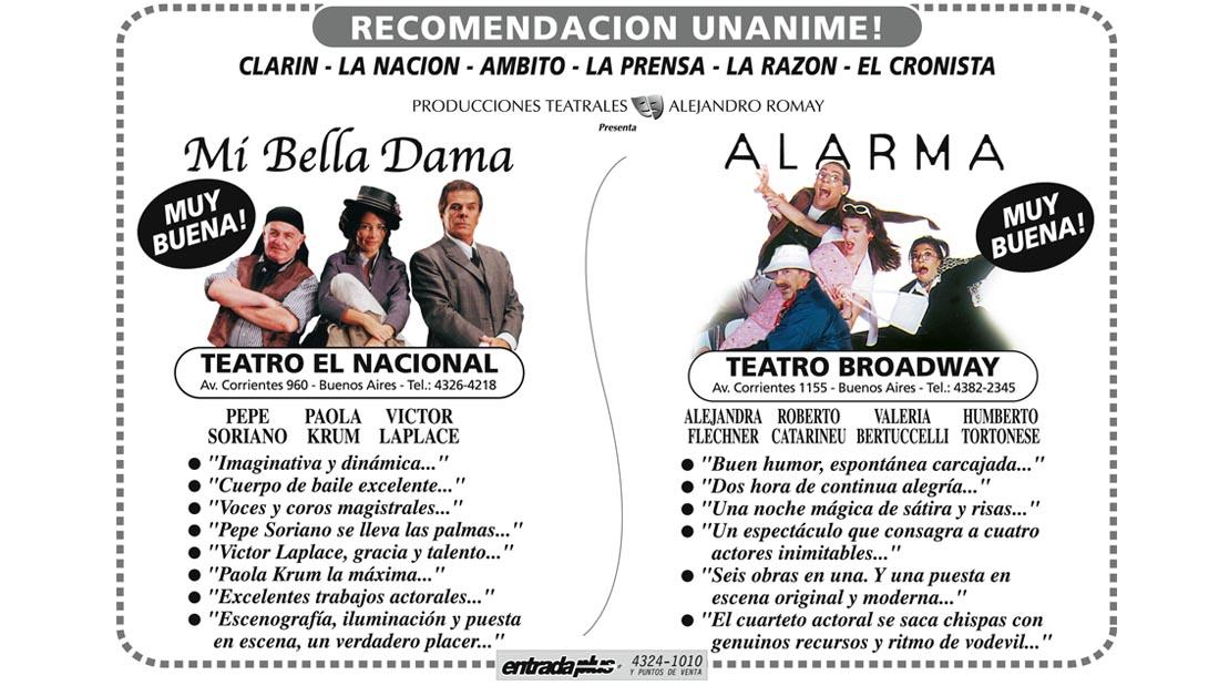 Alarma Obra - Folleto de Prensa - Teatro El Nacional