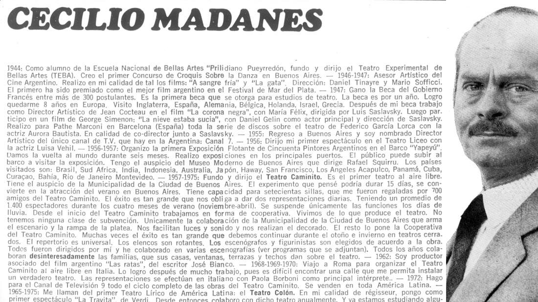 Celio Madanes en Equus - Teatro El Nacional