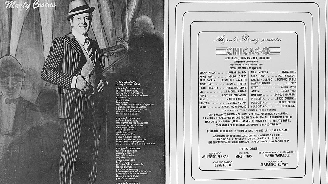 Marty Cosens en Chicago el Musical - Teatro El Nacional